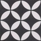 Cementine Piper Black 8 in. x 8 in. Durabody Ceramic Floor and Wall Tile (10.76 sq. ft. / case)