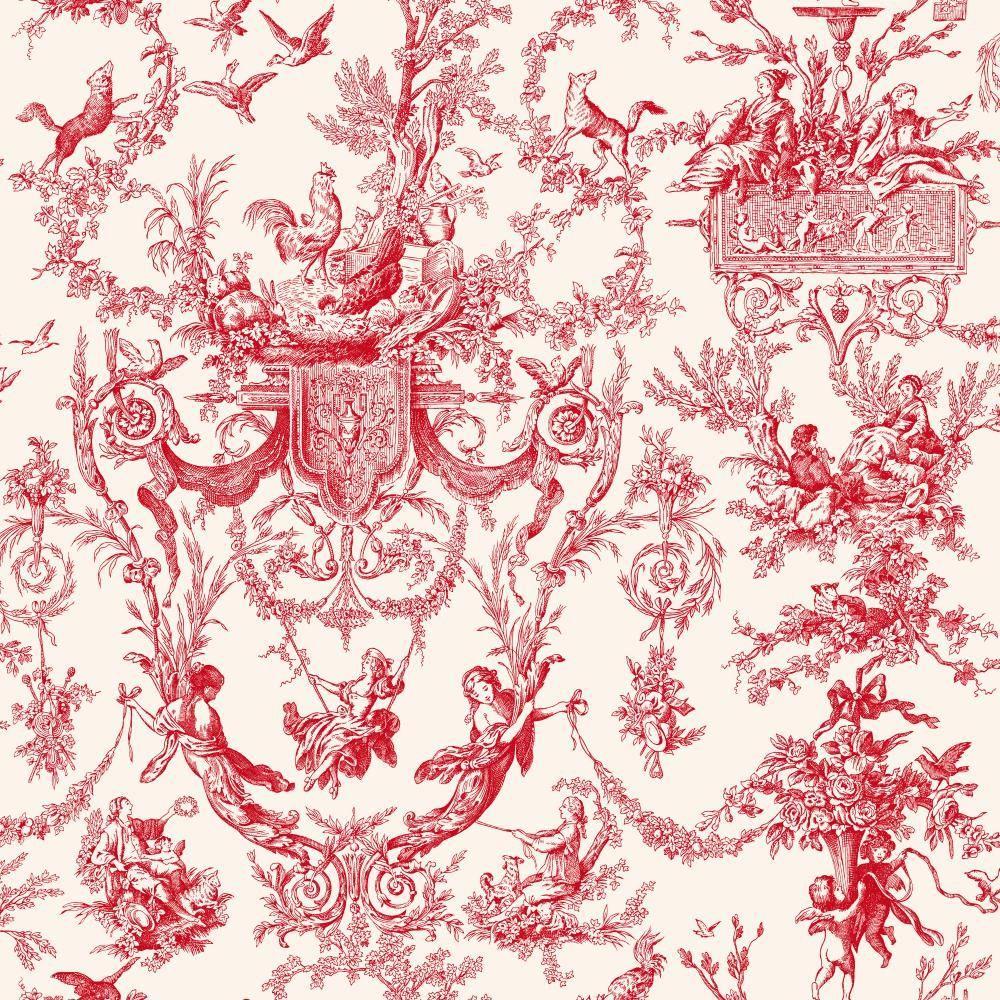 York Wallcoverings Old World Toile Wallpaper