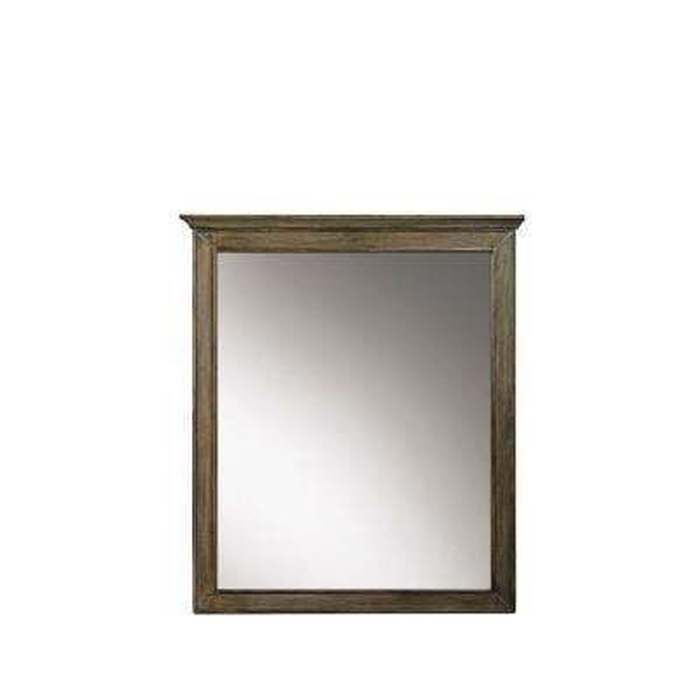 Clinton 28 in. W x 33 in. H Framed Wall Mirror in Almond Latte