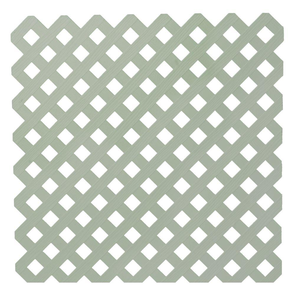 Veranda 0.2 in. x 48 in. x 8 ft. Brownstone Privacy Plastic ...