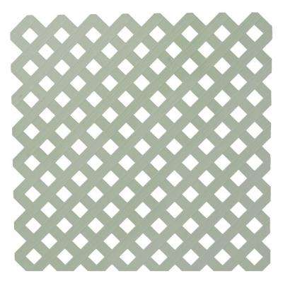 0.2 in. x 48 in. x 8 ft. Driftwood Gray Privacy Plastic Lattice