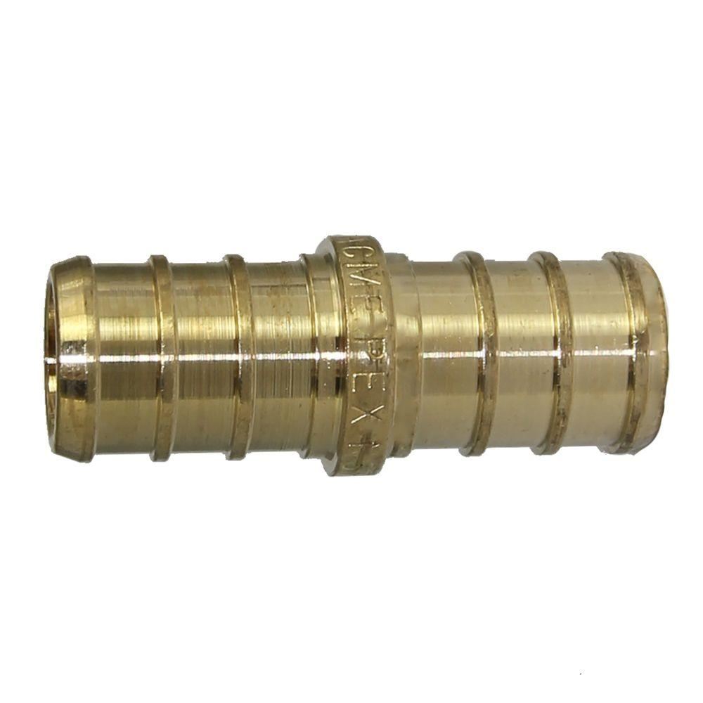 SharkBite 1/2 in. PEX Barb Brass Coupling Fitting (10-Pack)