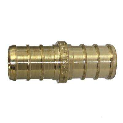 1/2 in. PEX Barb Brass Coupling Fitting (10-Pack)