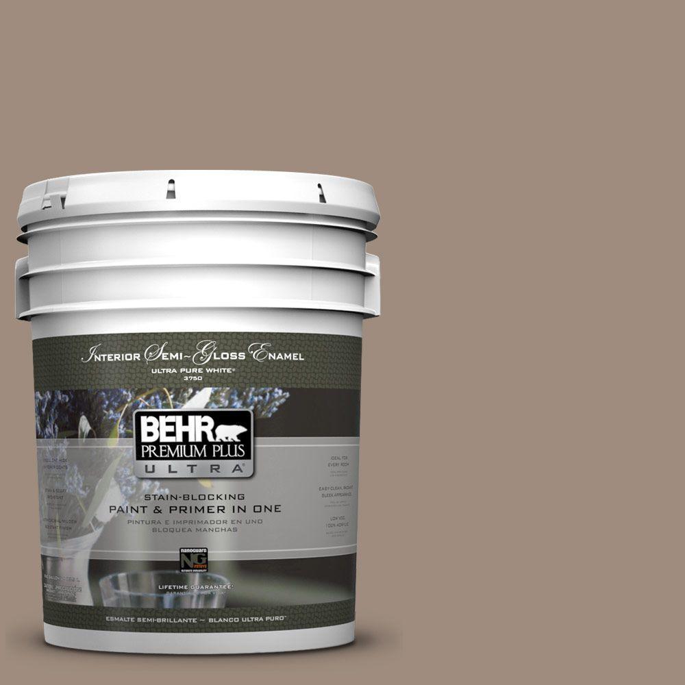 BEHR Premium Plus Ultra 5-gal. #UL140-6 Antique Leather Semi-Gloss Enamel Interior Paint