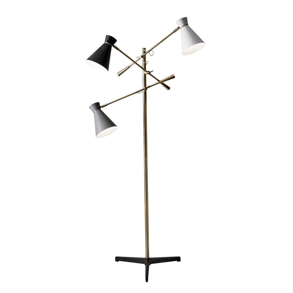 Lyle 71 in. Brass Floor Lamp