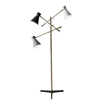 Lyle 71 in. Brass Floor Lamp