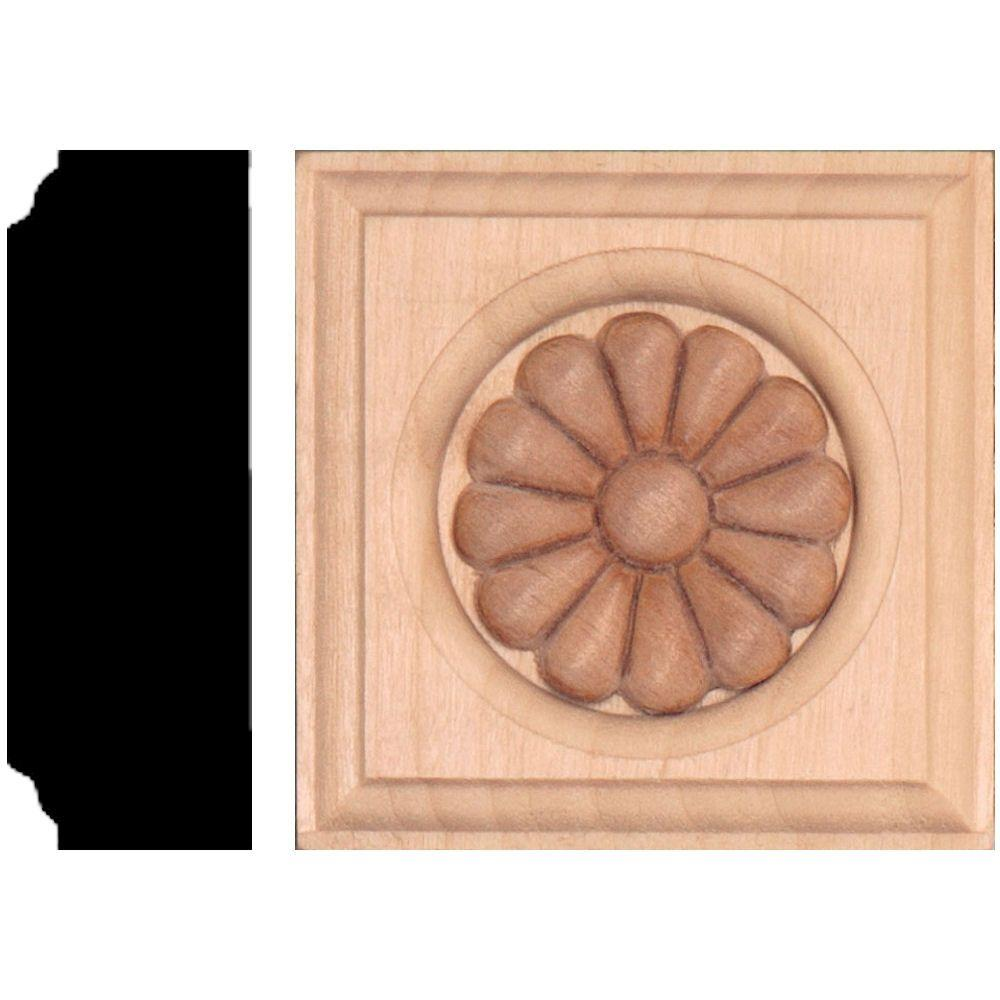 7/8 in. x 2-1/2 in. x 2-1/2 in. Hardwood Daisy Block