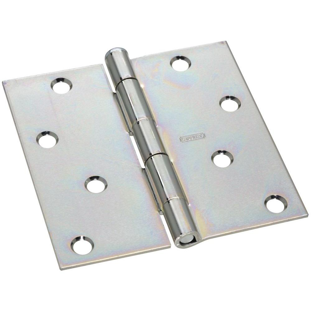 Stanley-National Hardware 4 in. x 4 in. Wide Utility Hinge Removable Pin