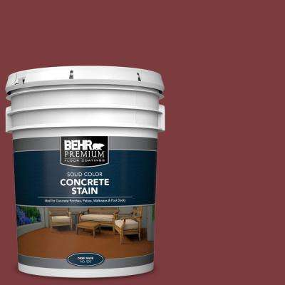 5 gal. #PFC-02 Brick Red Solid Color Flat Interior/Exterior Concrete Stain
