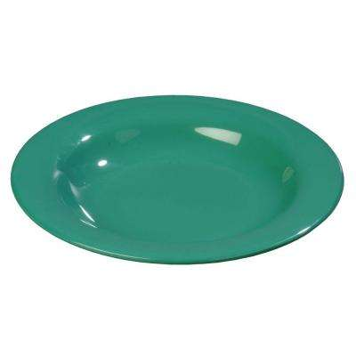 11.10 oz., 9.25 in. Diameter Melamine Soup, Salad and Pasta Bowl in Meadow Green (Case of 24)