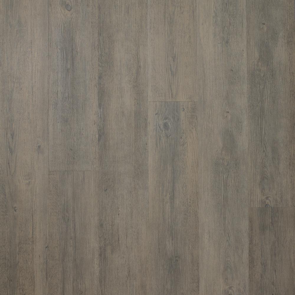 Midnight Oak Mocha 7.5 in. x 48 in. Luxury Rigid Vinyl Plank Flooring 17.55 sq. ft. per Carton