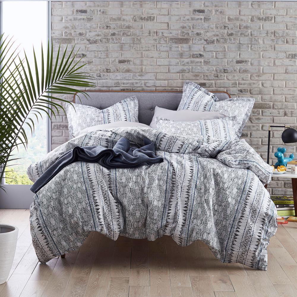 Gatework Geometric 200-Thread Count Organic Cotton Percale Pillowcase (Set of 2)