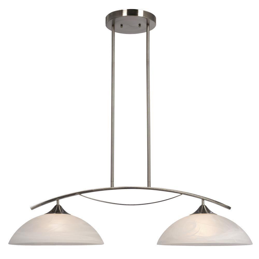 Filament Design Negron 2-Light Brushed Nickel Incandescent