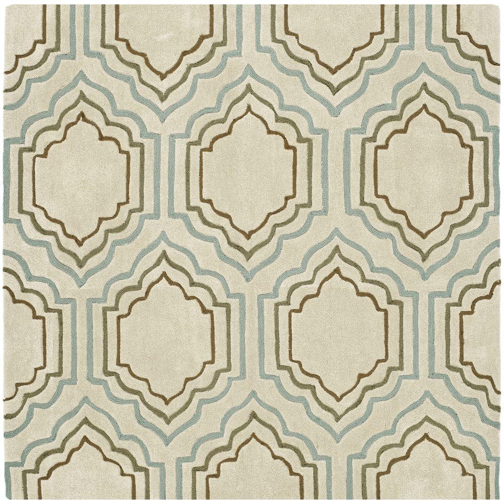 Safavieh Modern Art Beige/Multi 7 ft. x 7 ft. Square Area Rug