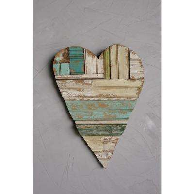 20.25 in. x 2.78 in. Wood Heart Wall Decor