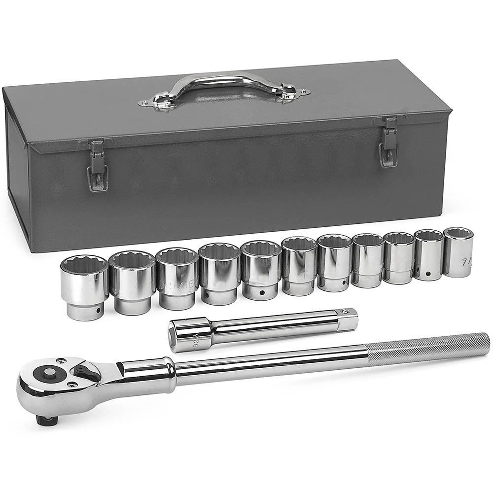 3/4 in. Drive 12-Point Standard Socket Set (13-Piece)