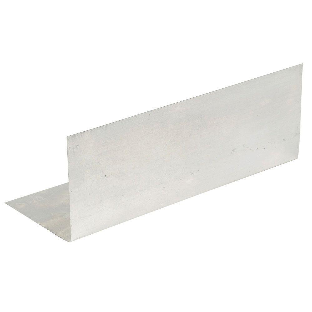Amerimax Home Products 4 in. x 8 in. Mill Finish Aluminum Step Flashing