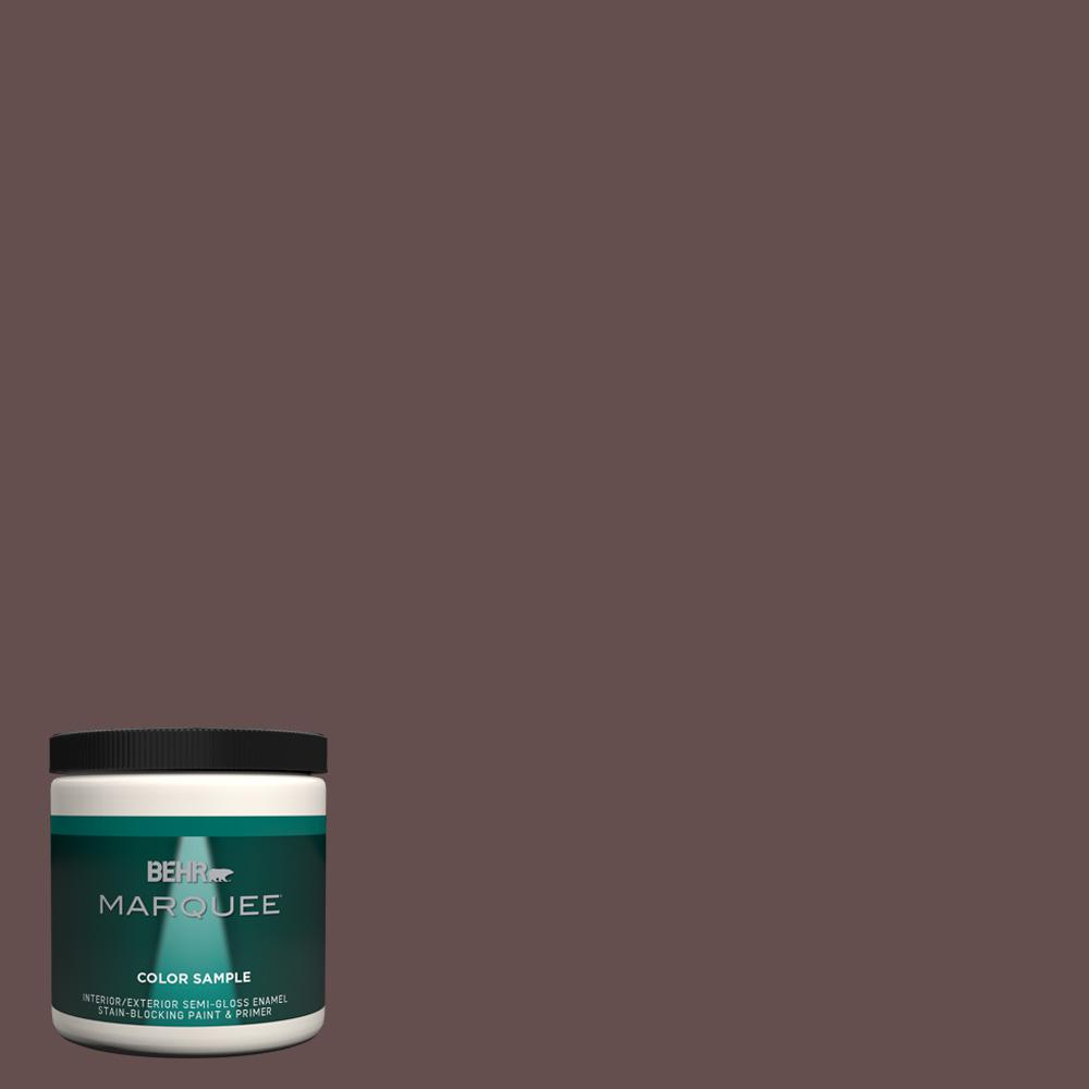 BEHR MARQUEE 8 oz. #hdc-CL-13A Library Leather Semi-Gloss Enamel Interior/Exterior Paint Sample