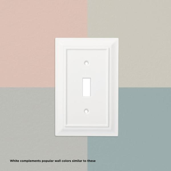 Hampton Bay White 2 Gang Toggle Wall Plate 1 Pack W10763 Wh Uh The Home Depot