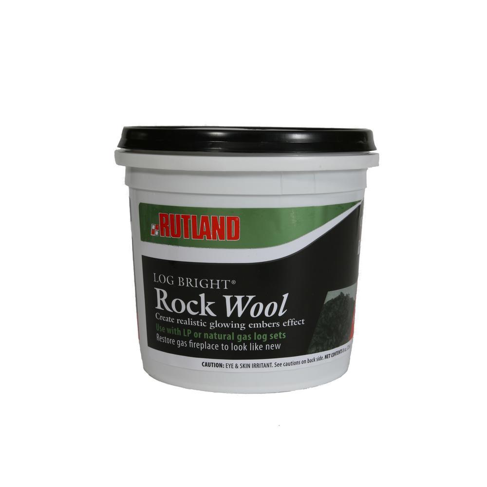 Rutland 8 oz. Log Bright Rock Wool Tub