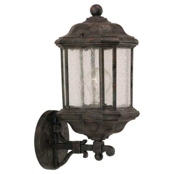 Kent 1-Light Oxford Bronze Outdoor Wall Lantern Sconce