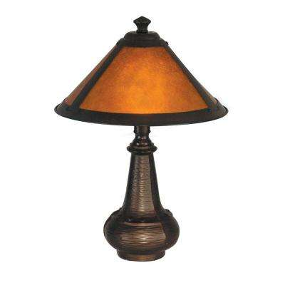 16 in. Hunter Mica Antique Bronze Accent Lamp