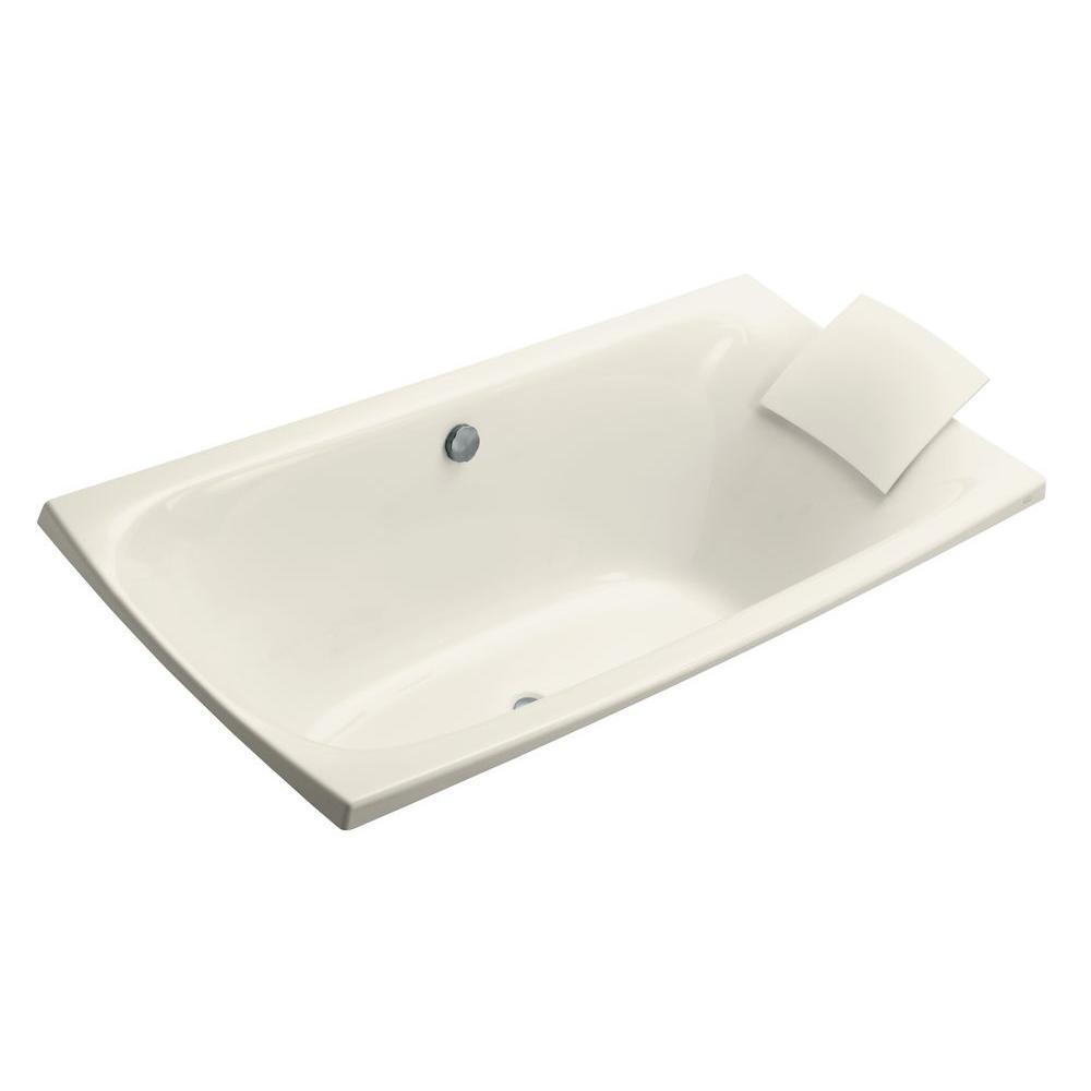 KOHLER Escale 6 ft. Reversible Drain Drop-In Bathtub in Biscuit