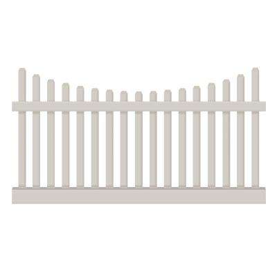 Hampshire 3 ft. H x 8 ft. W Tan Vinyl Picket Fence Panel Kit