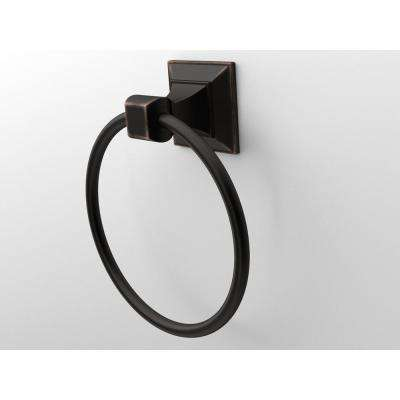 Lorent Towel Ring in Matte Black