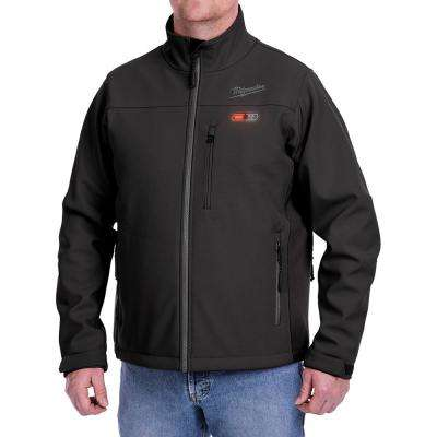 Men's X-Large M12 12-Volt Lithium-Ion Cordless Black Heated Jacket Kit with (1) 2.0Ah Battery and Charger