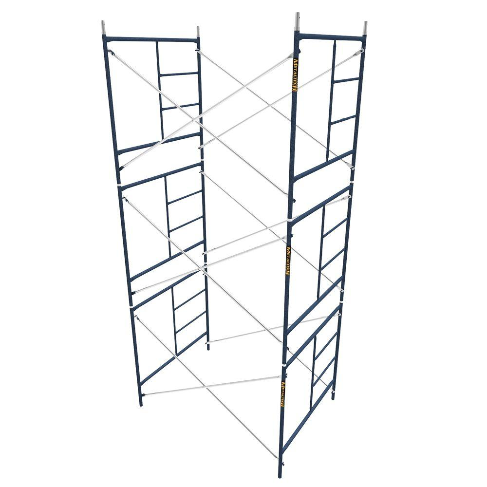 Rolling Scaffolding Home Depot : Metaltech saferstack ft mason scaffold