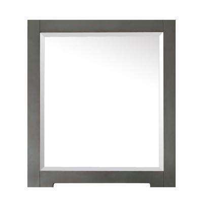 Kelly 32 in. L x 28 in. W Single Wall Mirror in Grayish Blue
