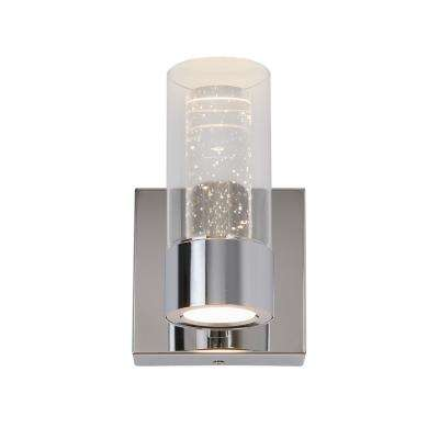 Essence 4.3 in. Chrome LED Sconce with Bubble Glass