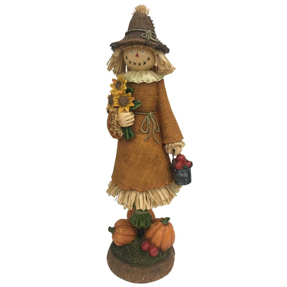Home Accents Holiday 15 in. Harvest Girl Scarecrow