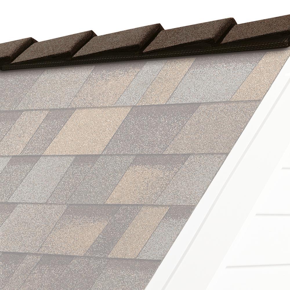Aged Copper Hip And Ridge Asphalt Roofing Shingles 20 Linear Ft Per Bundle Deac The Home Depot