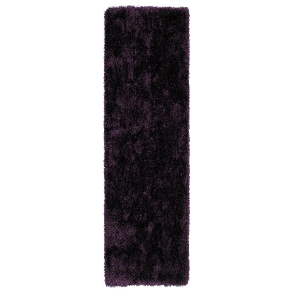 Purple Rug 2 Ft: Kaleen Posh Purple 2 Ft. 3 In. X 8 Ft. Runner-PSH01-95 2.3