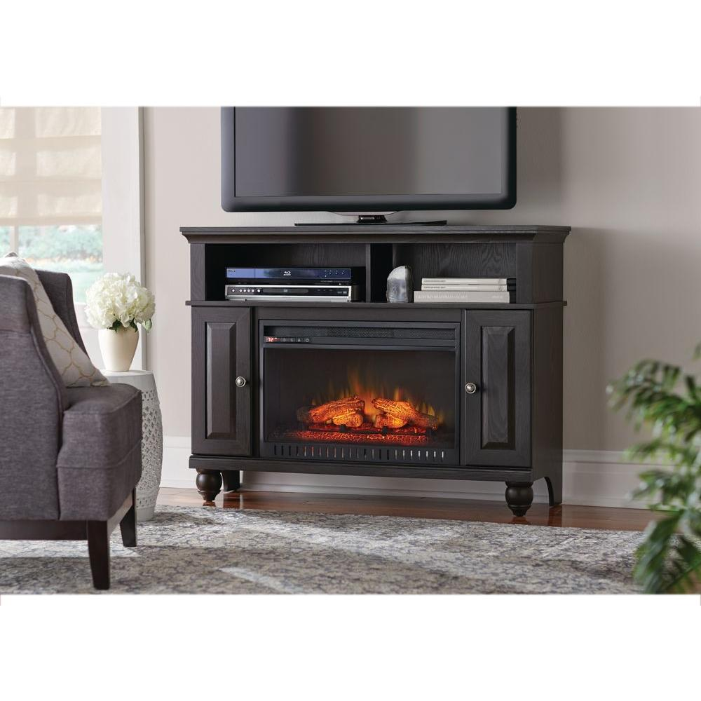 Home Decorators Collection Ashurst 46 In Media Console Infrared Electric Fireplace In