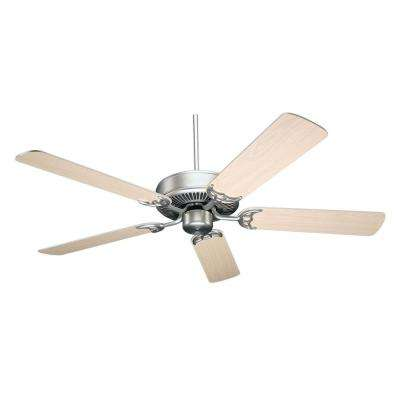 NICOR Masterbuilder 52 in. Pewter Indoor Ceiling Fan with Silver Oak Blades