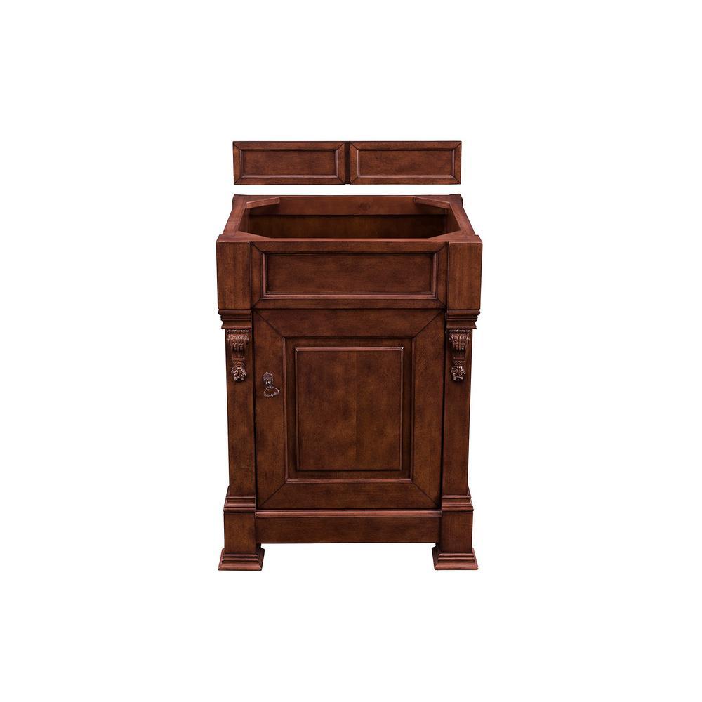 James Martin Vanities Brookfield 26 in. W Bathroom Single Vanity Cabinet Only in Warm Cherry