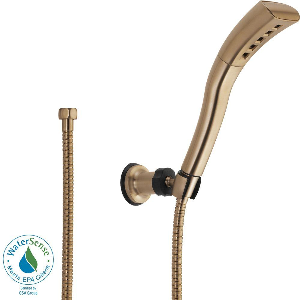 1-Spray 2.0 GPM Wall Mount Handshower in Champagne Bronze featuring H2Okinetic