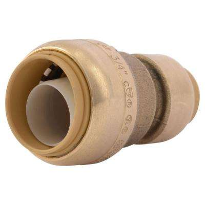 3/4 in. x 1/2 in. Brass Push-to-Connect Reducer Coupling