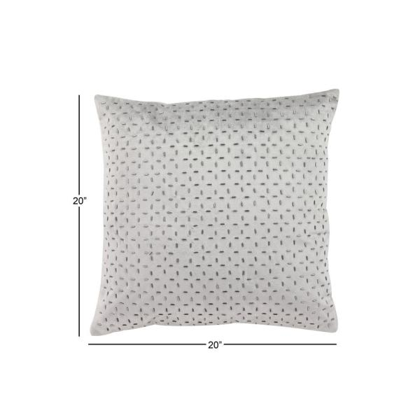 16*16in Lumbar Pillow Decorative Low Back Support for Dark Gray Square