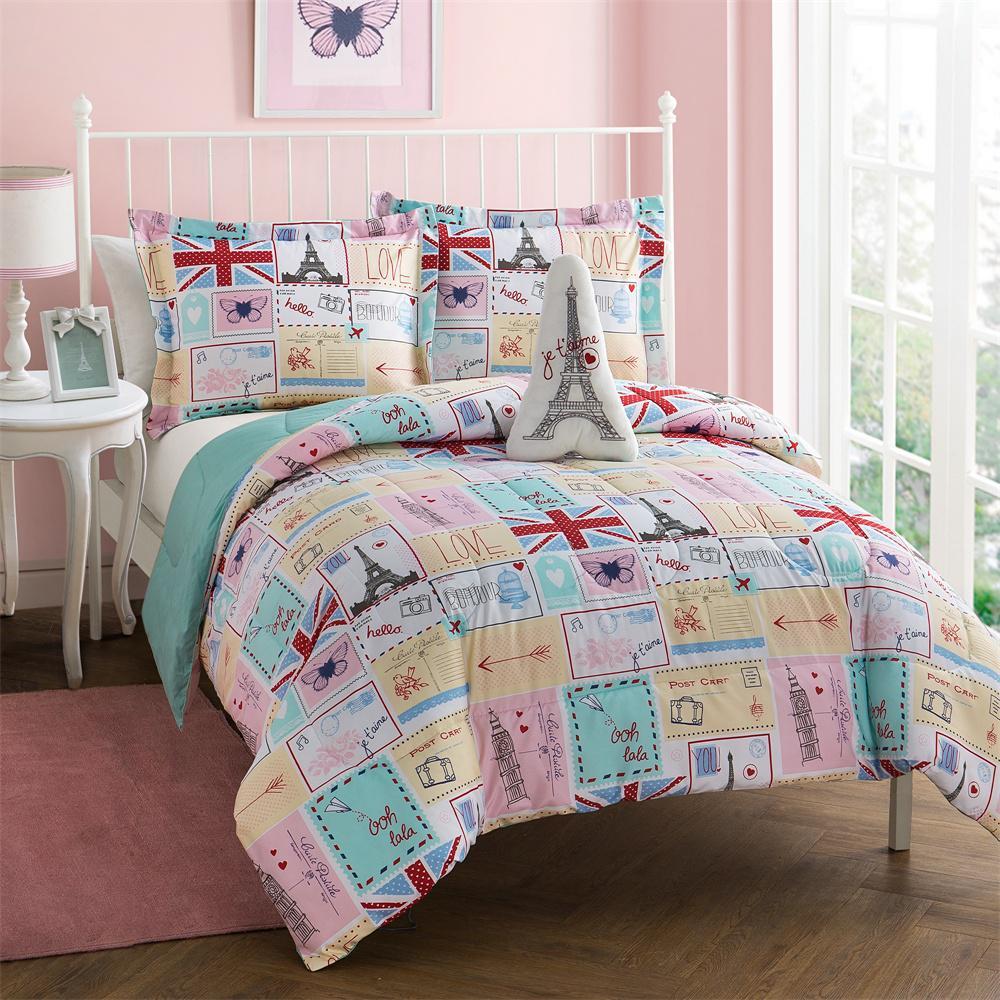 Bonjour 4-Piece Full Comforter Set