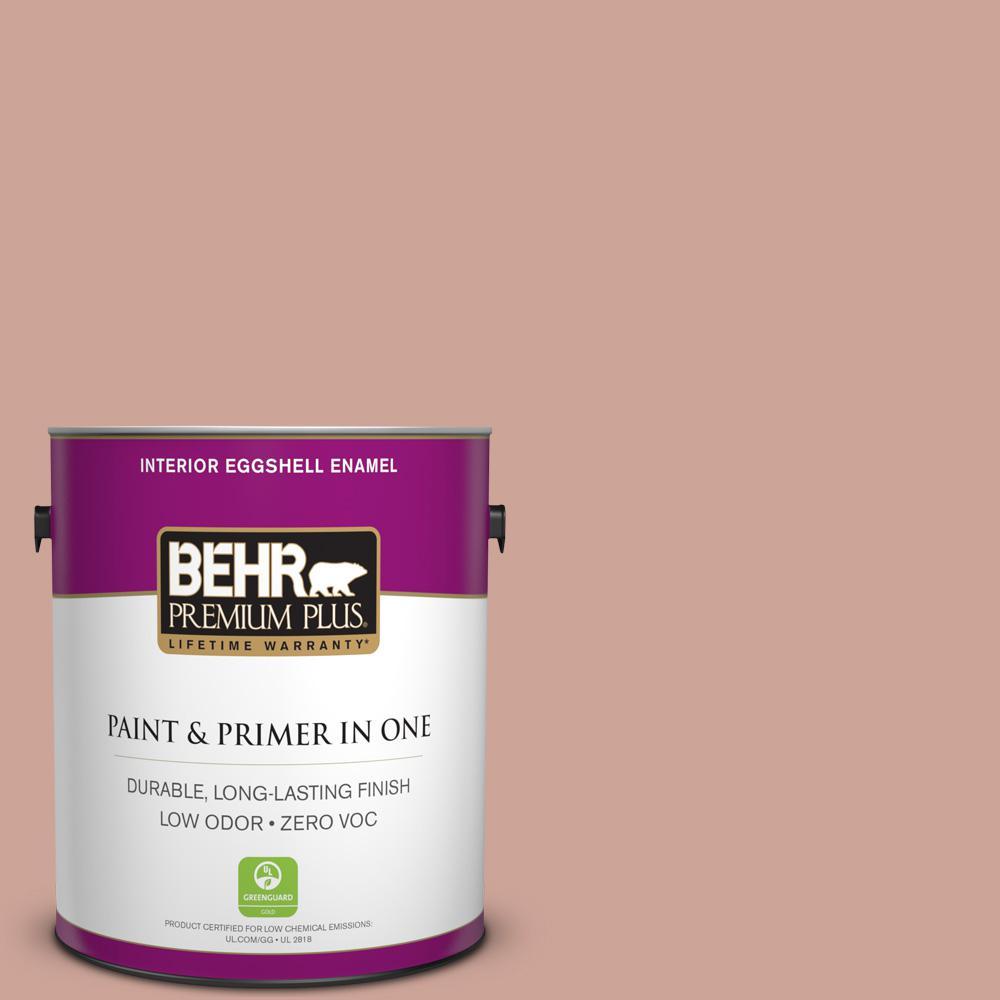 1 gal. #PPU2-08 Pink Ginger Zero VOC Eggshell Enamel Interior Paint