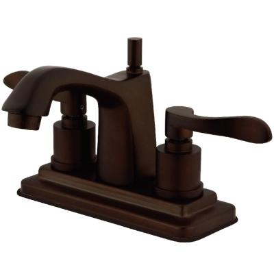 Modern 4 in. Centerset 2-Handle Bathroom Faucet in Oil Rubbed Bronze