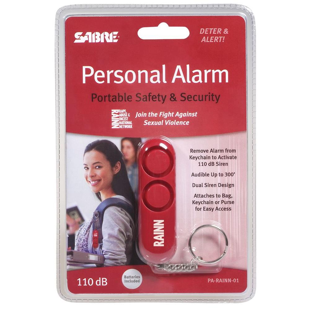 Sabre Personal Alarm - Red Key Chain with Loud Attention Grabbing