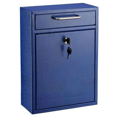 Large Ultimate Blue Drop Box Wall Mounted Mail Box