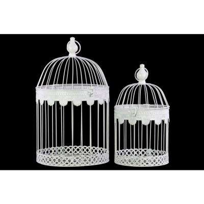 16.25 in. H Bird Decorative Sculpture in White Coated Finish (Set of 2)