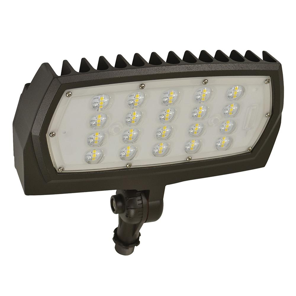 ProLED 28-Watt Bronze Outdoor Integrated LED Medium Landscape Flood Light