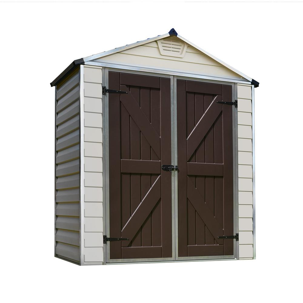 palram 6 ft x 3 ft tan skylight shed